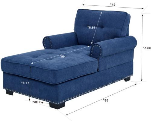 Upholstered Chaise Lounger Sleeper Arm Recliner Seat