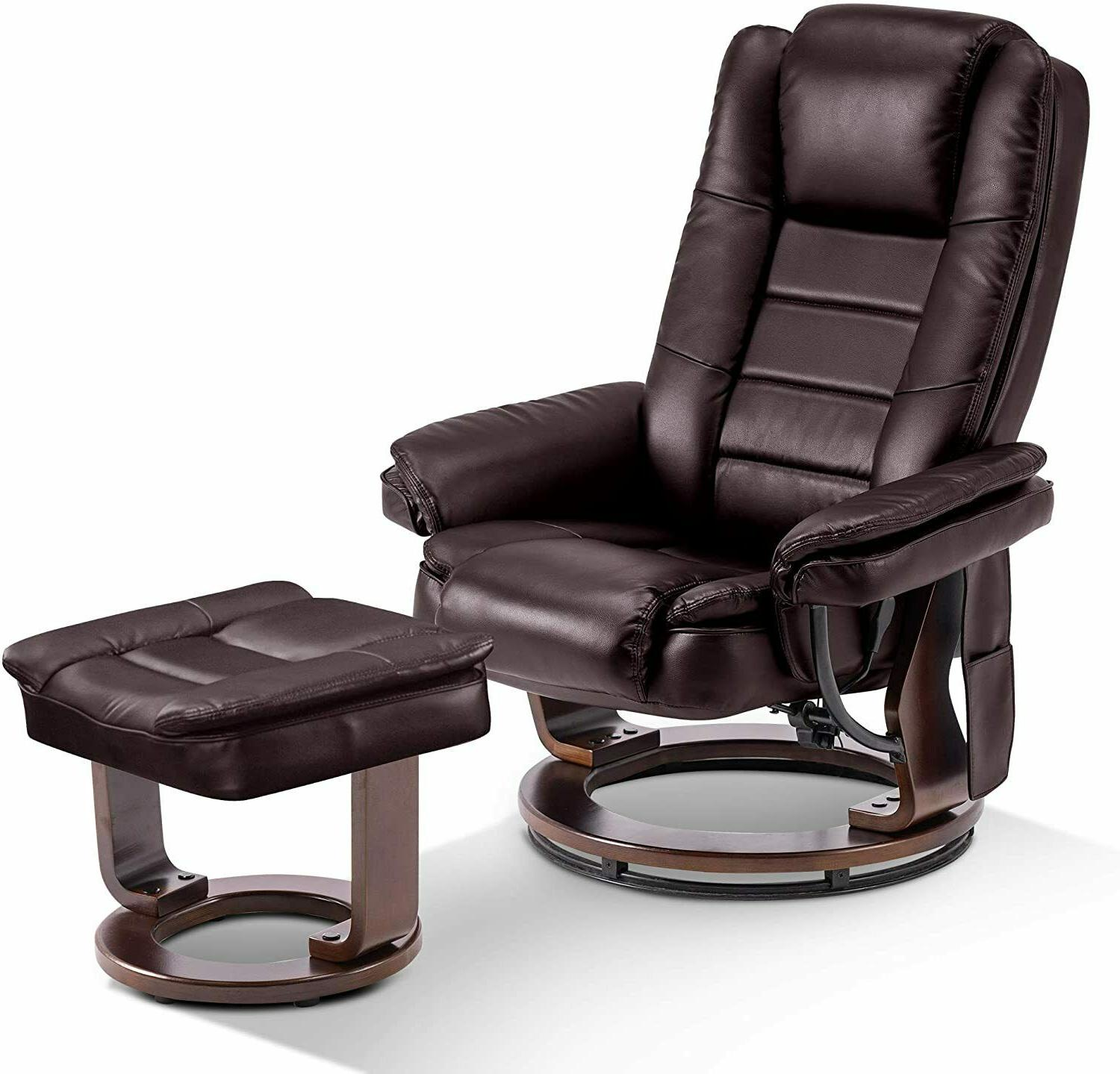 recliner with ottoman chair with vibration swivel