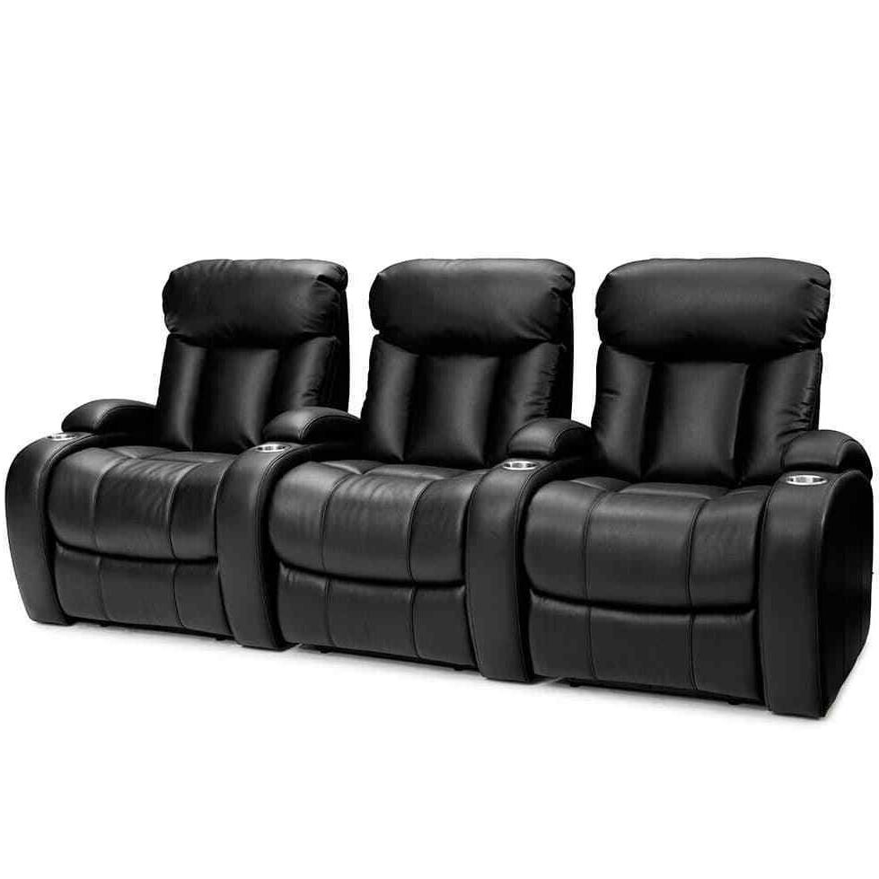 sausalito home theater seat leather gel black