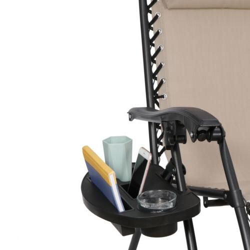 Set of Gravity Chairs Patio Lounge Tray