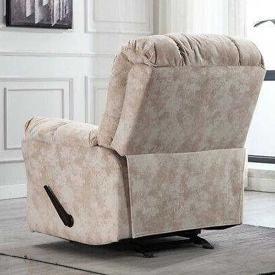 Wide Recliner Chair Heavy Living Room Padded White
