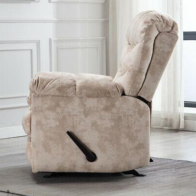 Wide Chair Heavy Duty Living Room Padded Cream