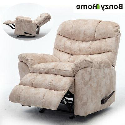 Wide Recliner Chair Padded Sofa