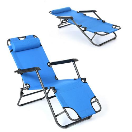Outdoor Portable Chaise Lawn Recliner