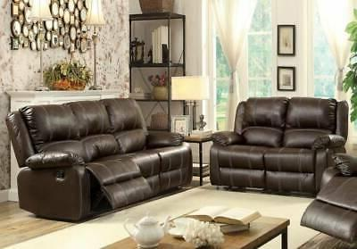 zuriel brown reclining sofa and loveseat living