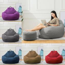 Large Bean Bag Chair Sofa Cover Lazy Lounger Cover Inner Lin