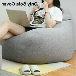 Large Bean Bag Chairs Couch Sofa Cover Indoor Lazy Lounger F