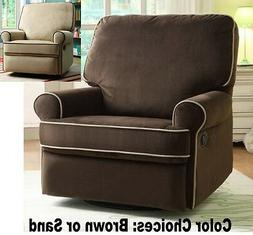 LARGE Nursery Swivel Glider Recliners Armchair Recliner Arm