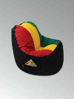 LARGE  RASTA STYLE BEAN BAG INDOOR COVER CHAIR LOUNGER FOR A