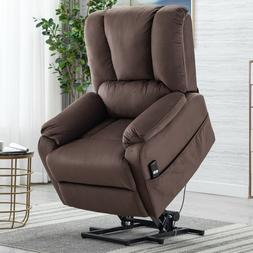 Leather Recliner Chair Accent Reclining Couch Sofa w/ Nails