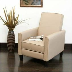 Bowery Hill Leather Recliner in Camel Tan