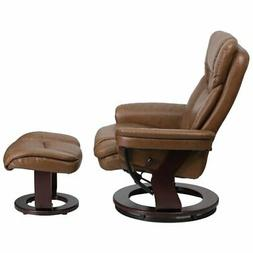 Bowery Hill Leather Recliner in Palimino Brown