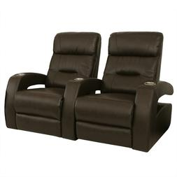 Seatcraft Liberty Brown Home Theater Seating Row of 2 Power