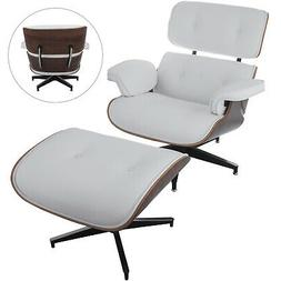 Lounge Chair and Ottoman Mid Century Recliner Armchair W/ Fo