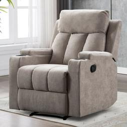 Manual Recliner Chair Contemporary Theater Recliner With 2 C