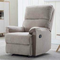 Manual Recliner Chair For Living Room Bedroom Theater Single