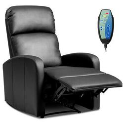 Manual Recliner Chair Lounger Leather Sofa Seat Home Theater