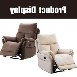 Manual Recliner Living Room Reclining Chair Soft with Overst