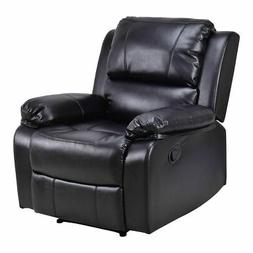 Manual Recliner Sofa Lounge Chair PU Leather Home Theater Pa
