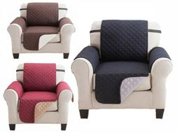 Microfiber Recliner Quilted Reversible Chair Arm Cover Prote