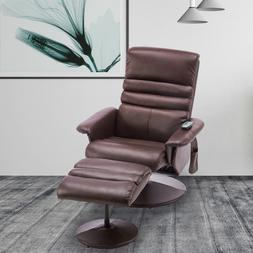 Faux Leather Electric Massage Recliner Couch Chair Gaming Ch