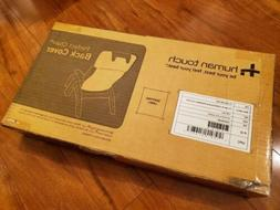 NEW in BOX HUMAN TOUCH Perfect Chair Black Back Cover Only -