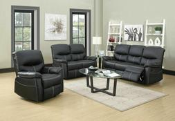 New Loveseat Chaise Couch Recliner Sofa Chair Leather Accent