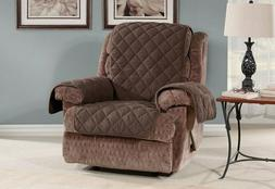 NEW Oversized Microfleece Recliner Furniture Cover Chocolate