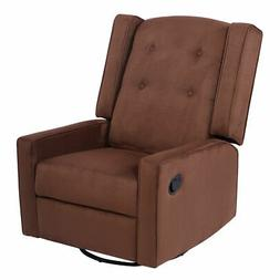 New Swivel Glider Recliner Sofa Chair Gliding Upholstered Nu