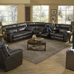 Catnapper - Nolan 3 Piece Extra Wide Reclining Sectional Set