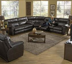 Catnapper Nolan godiva POWER reclining Motion Sectional