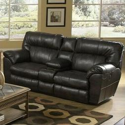 Catnapper Nolan Leather Reclining Sofa in Godiva