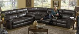 Catnapper Nolan Reclining Leather Sectional Sofa Set in Godi