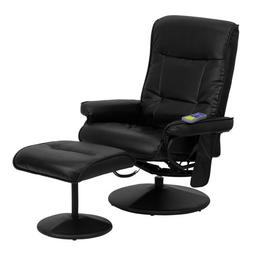 Offex OFX-84118-FF Massaging Leather Recliner and Ottoman wi
