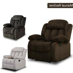 """Overstuffed Manual Recliner Chair 23""""W Padded Seat Living Ro"""