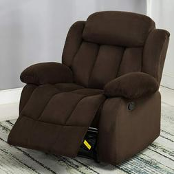 overstuffed manual recliner chair breathable fabric living