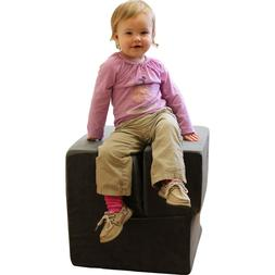 PINK Folding Childs Foam Chair - Converts From Recliner to C