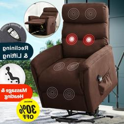 Power Lift Recliner Massage Chair Sofa Padded Seat Armchair