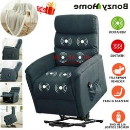 Power Recliner Lift Chair Electric Heated Massage Vibration