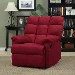 ProLounger Wall Hugger Microfiber Biscuit Back Recliner Chai