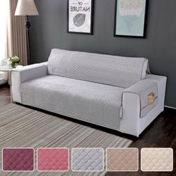 Quilted Sofa Cover Waterproof Chair Couch Slipcover Pet Dog