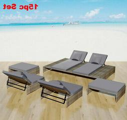Outdoor Clearance Furniture Sets Rattan Patio Day Bed Reclin