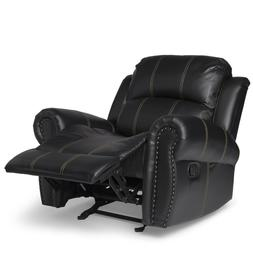 Recliner Chair For Men Faux Leather Reclining TV Living