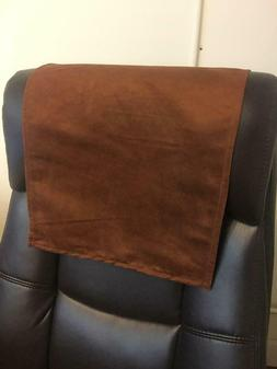 Recliner Head Rest Cover Suede faux brown 14x30 Sofa Love se