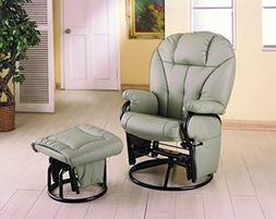 Recliner Leatherette Chair w/Ottoman Set by Coaster