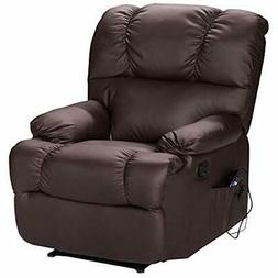 Recliner Massage Sofa Chair With Heating Set And 8 Vibrating