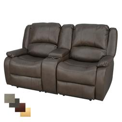 """RecPro Charles 67"""" Double RV Wall Hugger Recliner Sofa With"""