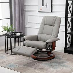 relaxing and comfortable grey adjustable recliner chair