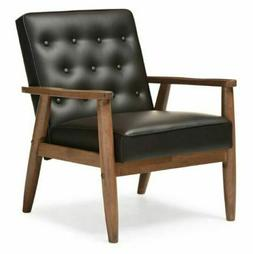 **RETRO 50's 60's Arm Chair Mid Century MODERN Faux LEATHER