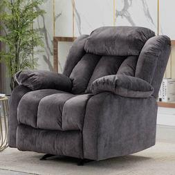 Rocker Recliner Chair Living Room Overstuffed Arms And Back